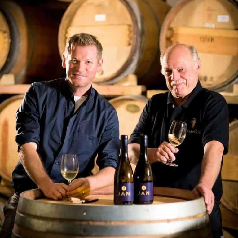 Jan Hendrik van der Westhuizen chose cellar master Frank Meaker from Org de Rac organic winery in the Swartland to create two bespoke wines for his Michelin-star Restaurant JAN in Nice